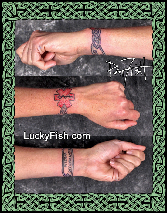 Medical Alert Bracelet Tattoo by Pat Fish