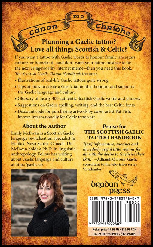 The Scottish Gaelic Tattoo Handbook - back cover