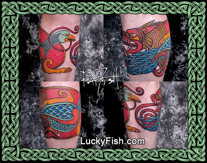Celtic Lion and Bird Tattoo Band by Pat Fish
