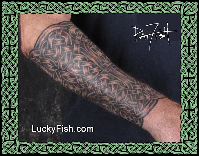 Celtic Gauntlet tattoo by Pat Fish