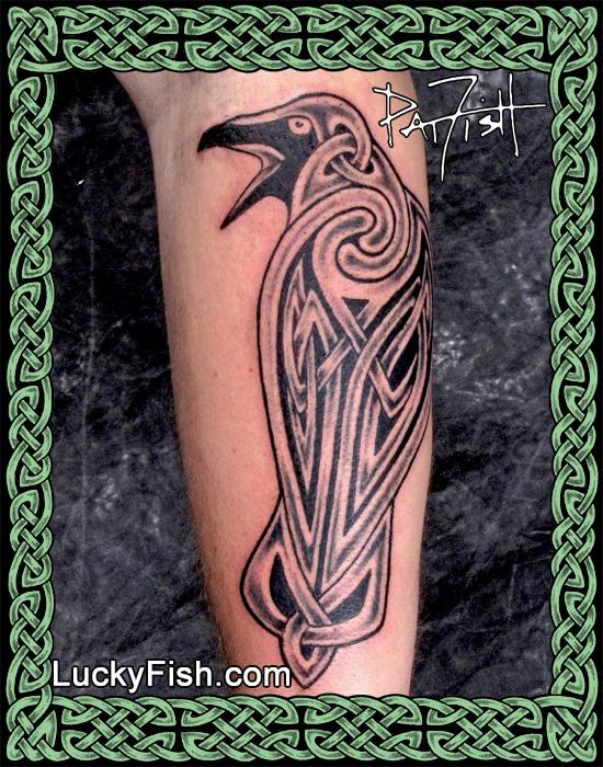 'The Morrígan' Celtic Tattoo by Pat Fish