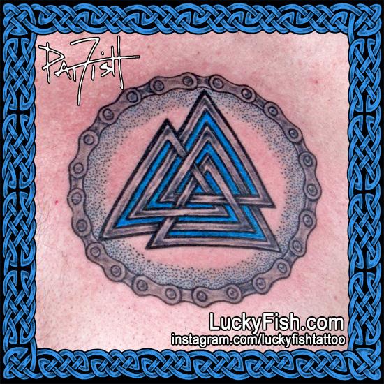 Biker Viking Walknot Tattoo by Pat Fish