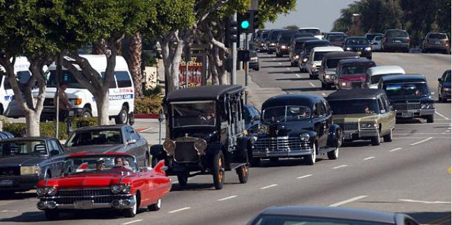Peterson Automotive Museum procession