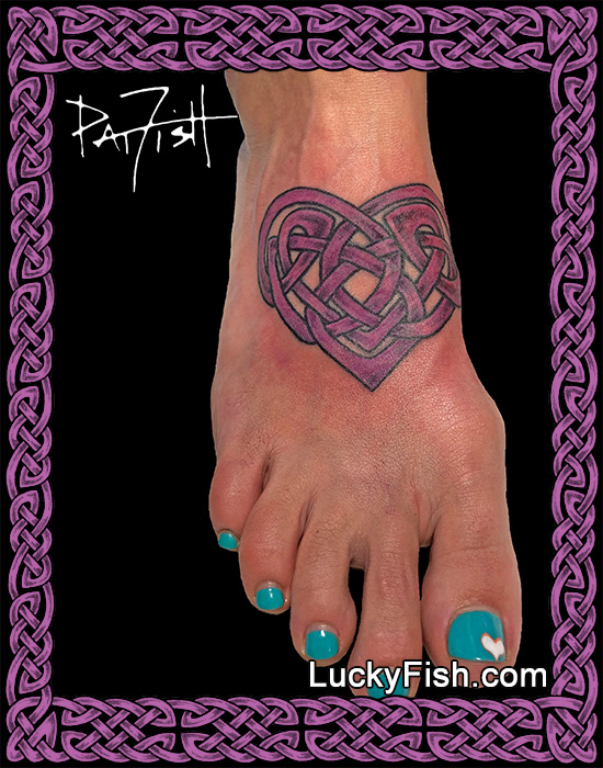 Celtic Heart tattoo by Pat Fish