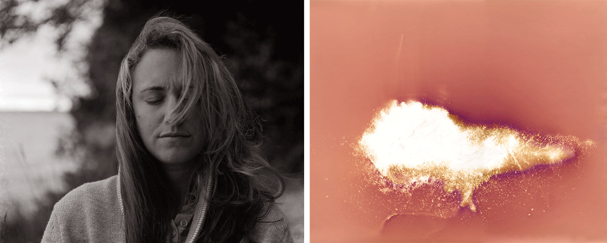 Untitled (self portrait with earth, diptych)