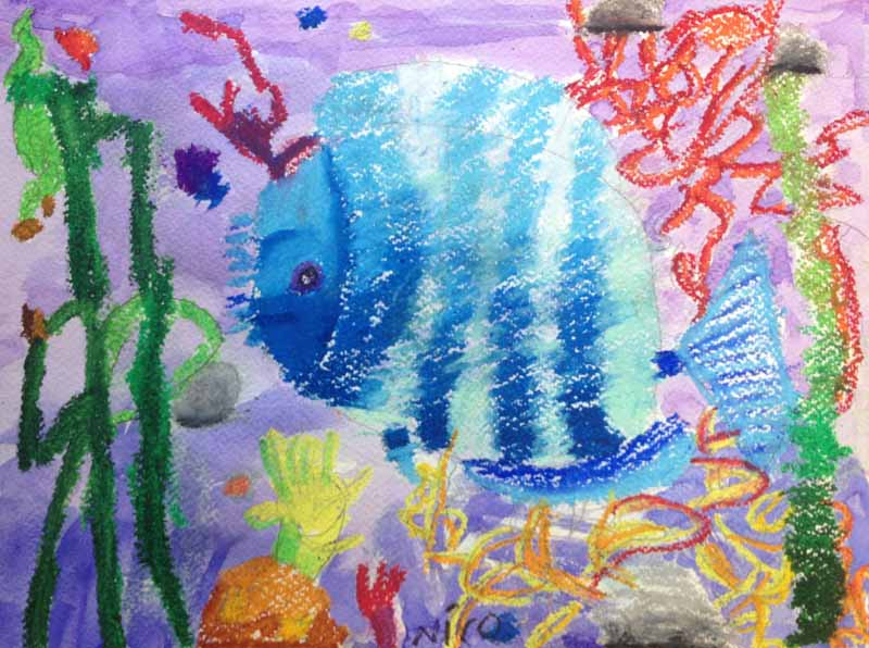 Nico's fish dressed in blue :)
