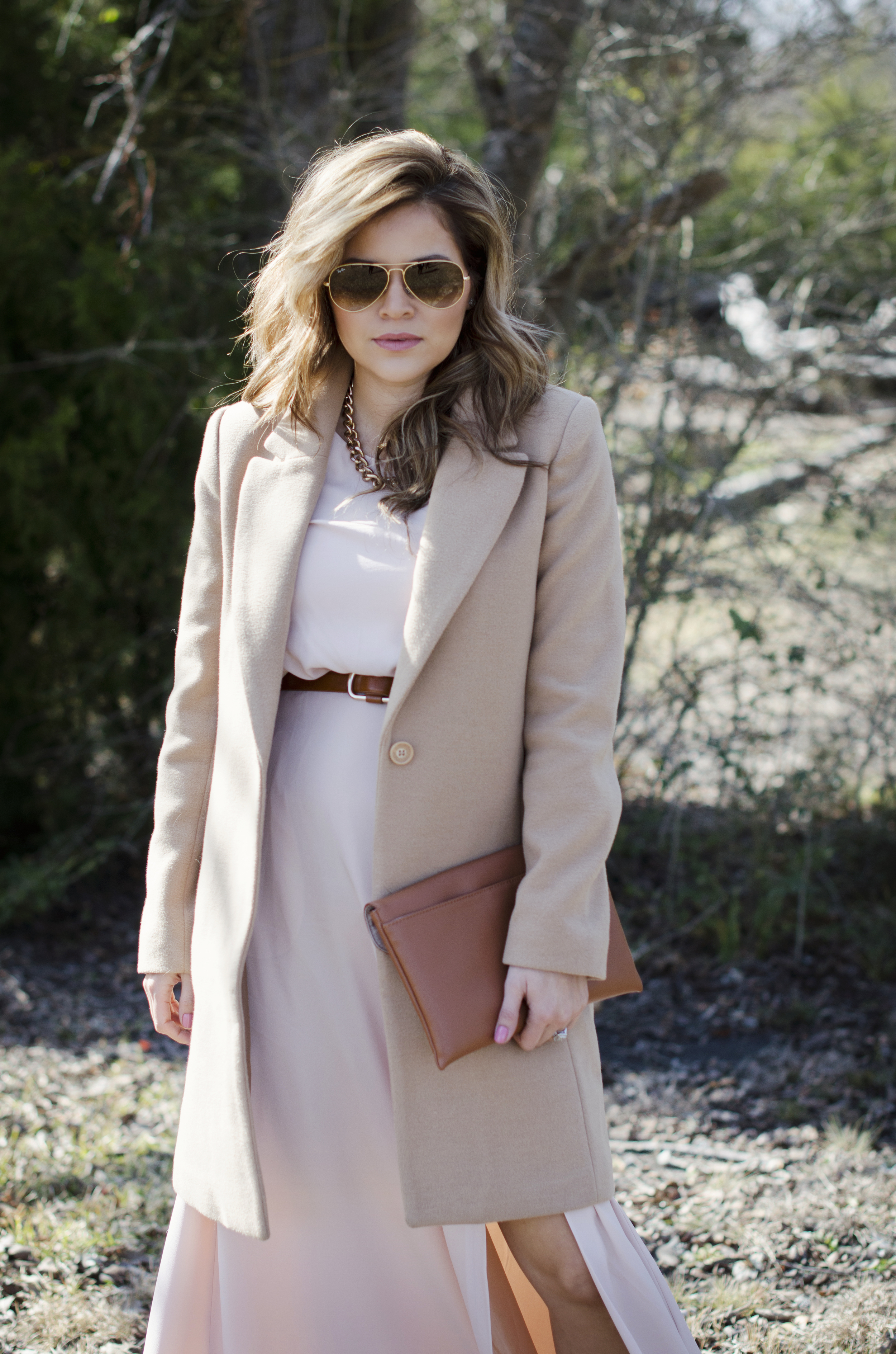 blush and camel