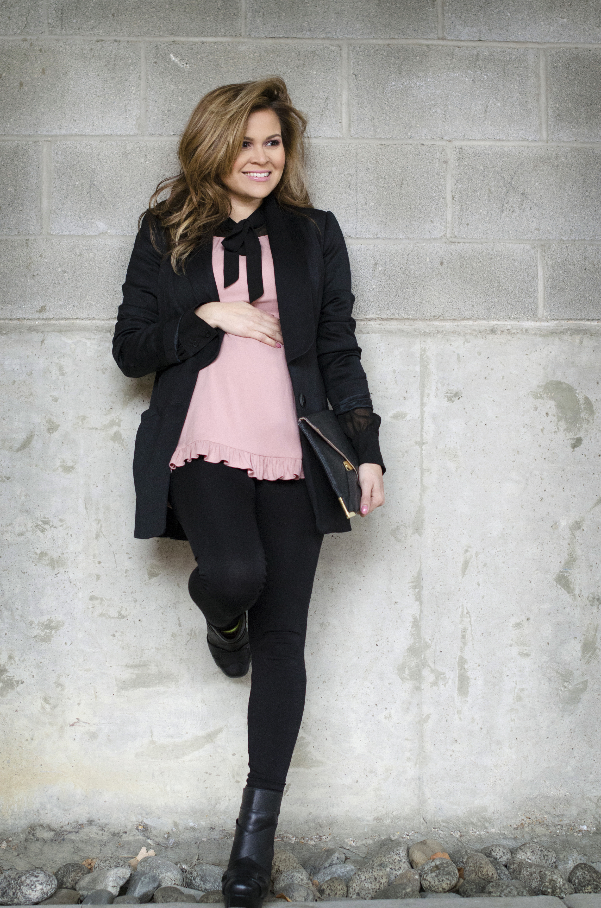 blush-and-black-blouse-and-blazer