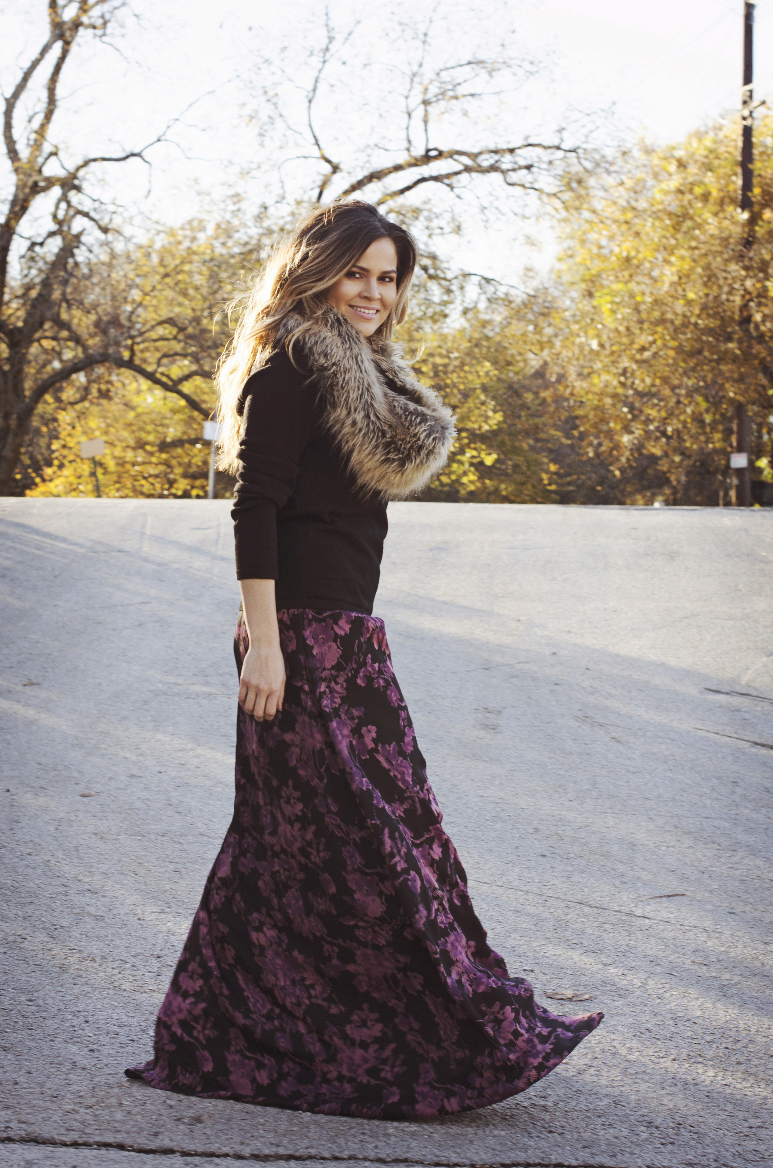 fall-hues-dress-with-sweater