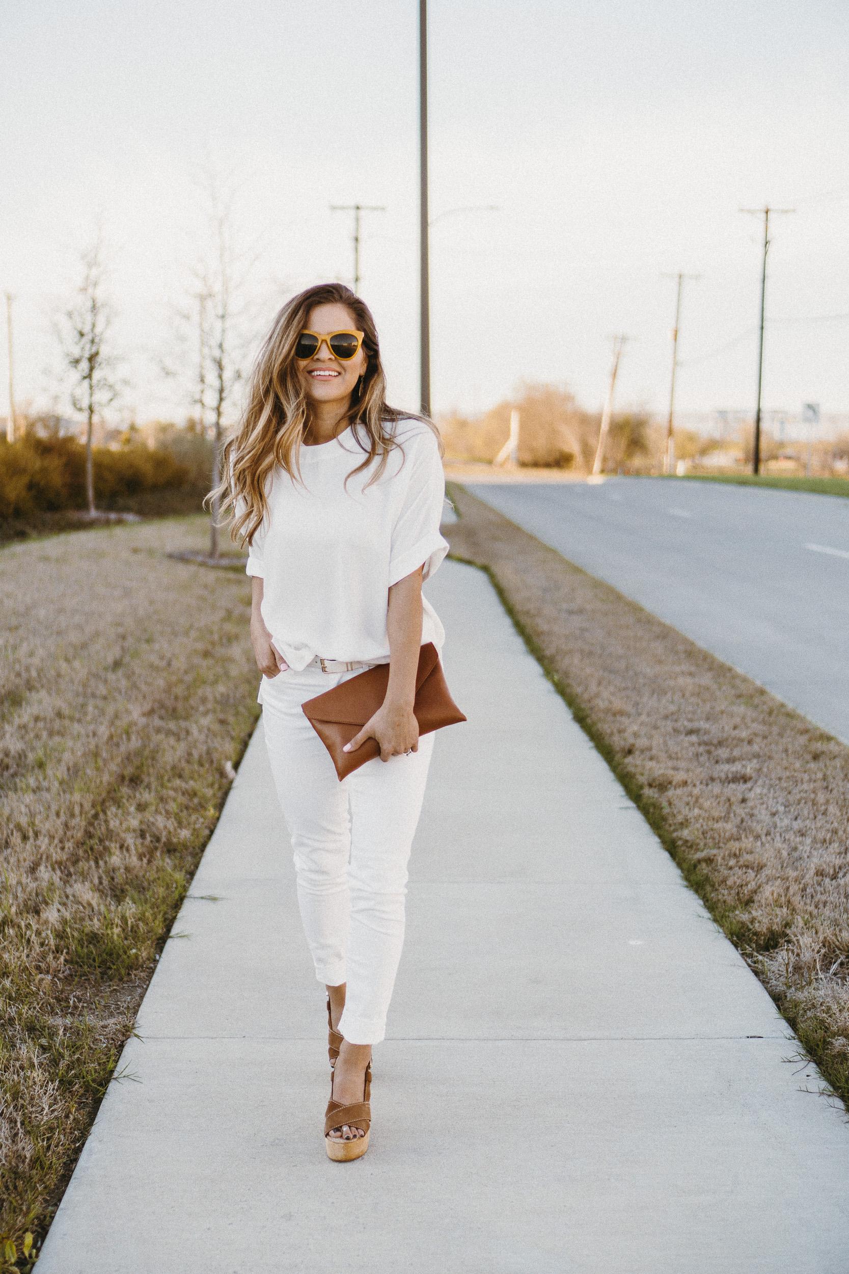 All White for Spring -