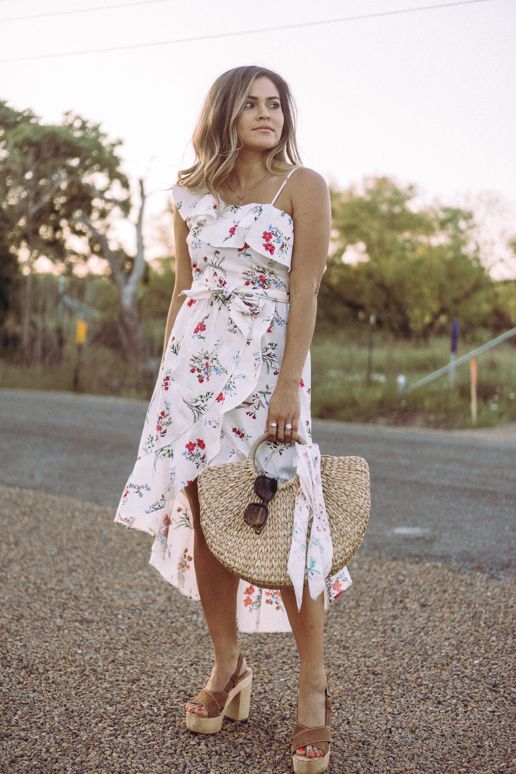 lush anne floral dress