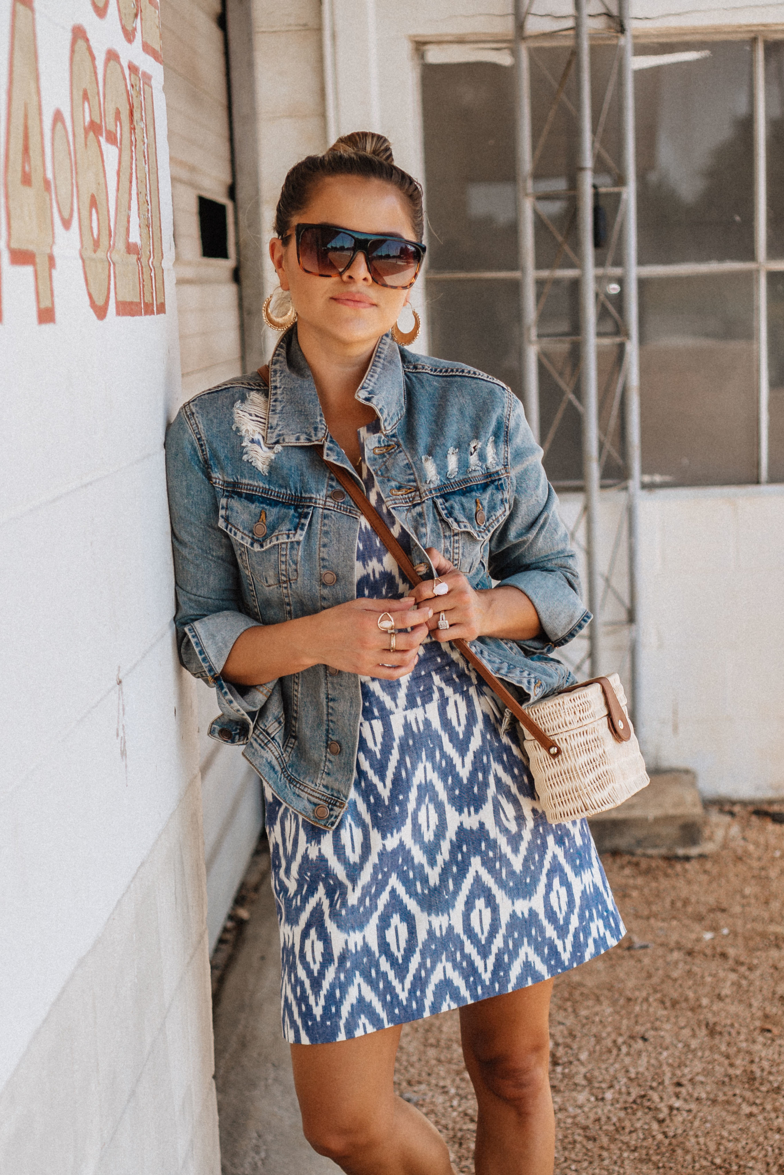 how to style ikat
