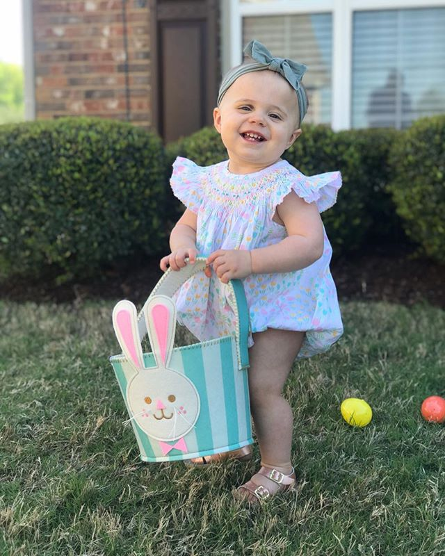 We blinked and our Milly bug is walking. She's the sweetest, smartest, hungriest and most adventurous (hence the black-eye. Thank the Lord for our nurse neighbor @sarahtomlinson11 ) little one. We love her like crazy. // Because of the Hope of today, we have eternal victory over death. 🦋 He is risen!