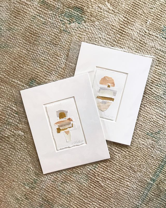 **GIVEAWAY** . I've had a lot of inquiries about my fragment pieces, so I thought it would be fun to do a little giveaway of some. . How to enter: 1. Follow @lauramccarty 2. Like this photo. 3. Tag some friends who you think might want these little guys! . Winner announced Wednesday morning, June 12th at 10:00am CT. . *Winner will receive a pair of 8x10 matted abstracts* (pictured).