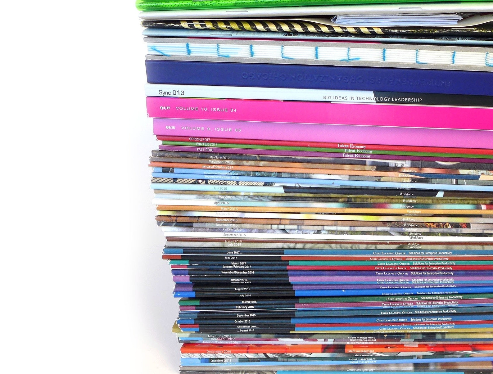 106 Mags Made - Over 7 years, for 10 different titles.Don't tell me print is dead.