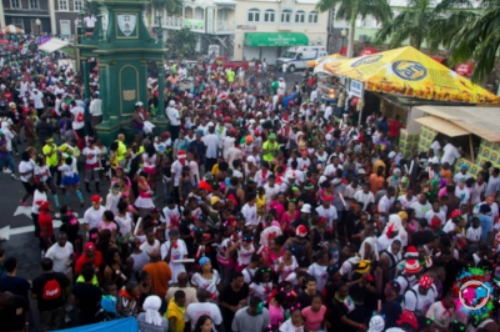 Jouvert during carnival time in St. Kitts
