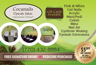 Want your nails and feet pretty for your next trip? Click on image to learn more about Cocanails Upscale Salon!