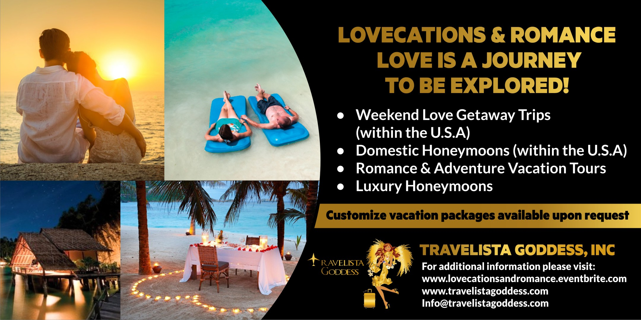 Featured Tour - To book visit:    www.lovecationsandromance.eventbrite.com