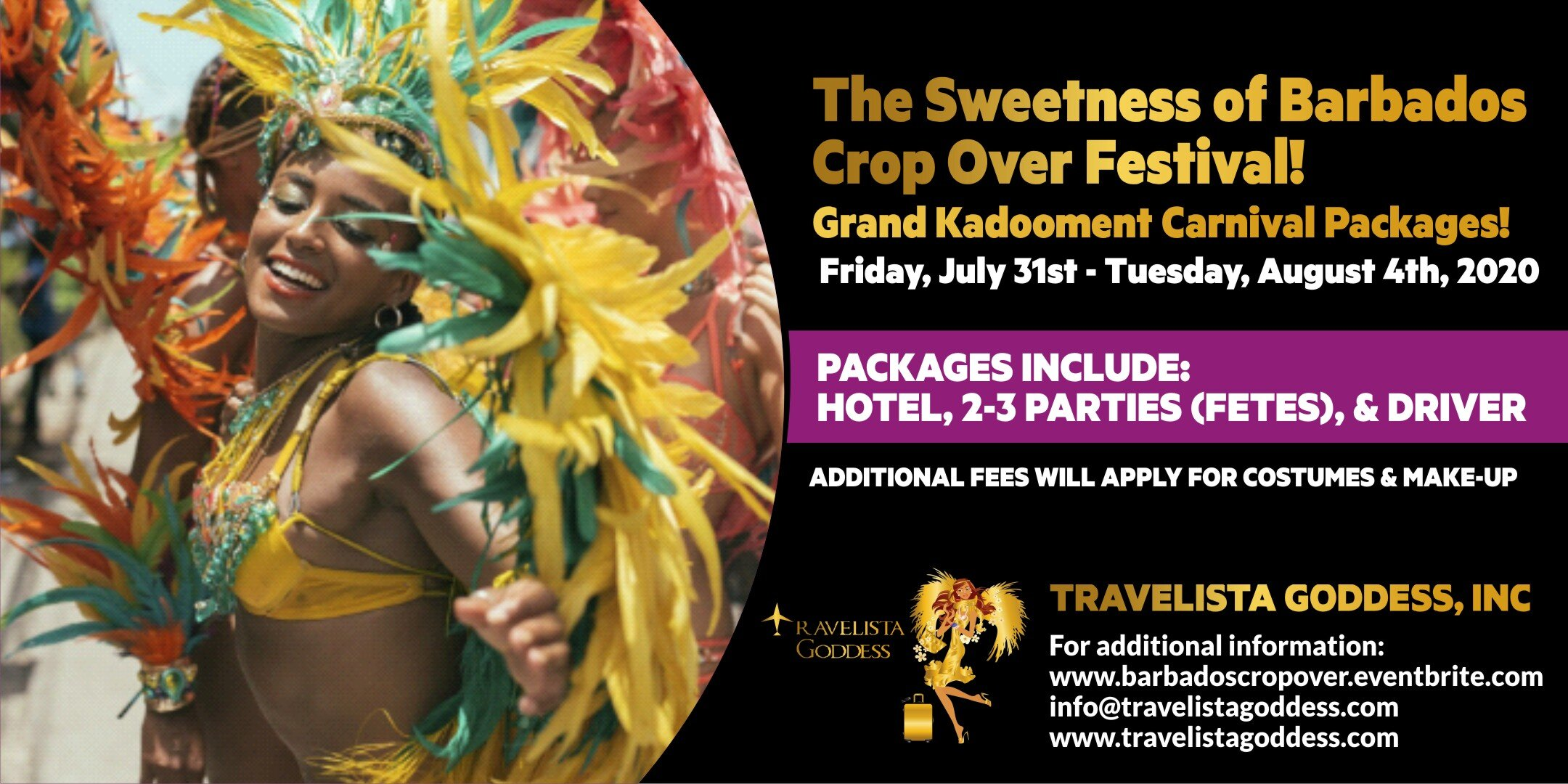 Featured Carnival Package - To book visit    https://barbadoscropover.eventbrite.com