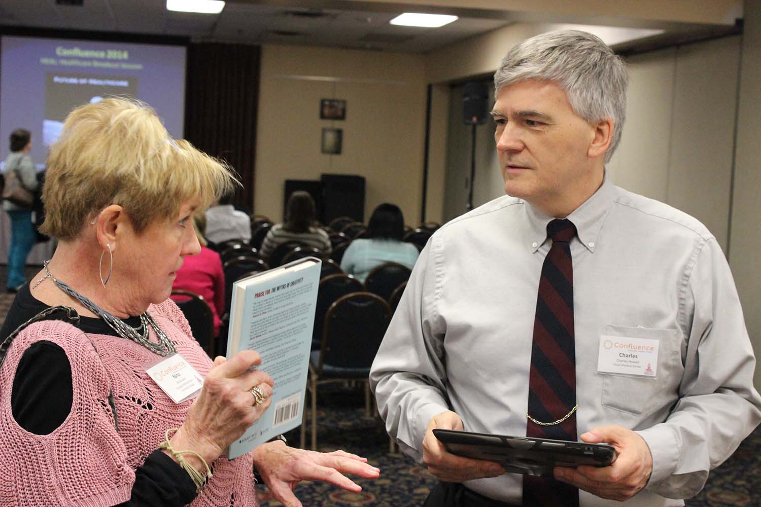 "Charles Howell of Floyd Medical Center coordinated an ""Interactive Personal Healthcare Technology EXPO"" during the Health Care breakout session, which explored local health care innovations and national trends."