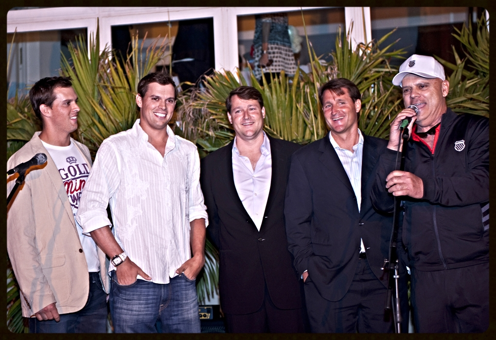 Ryan Wolfington with Advisory Board members Sean Wolfington, Bob Bryan, and Mike Bryan