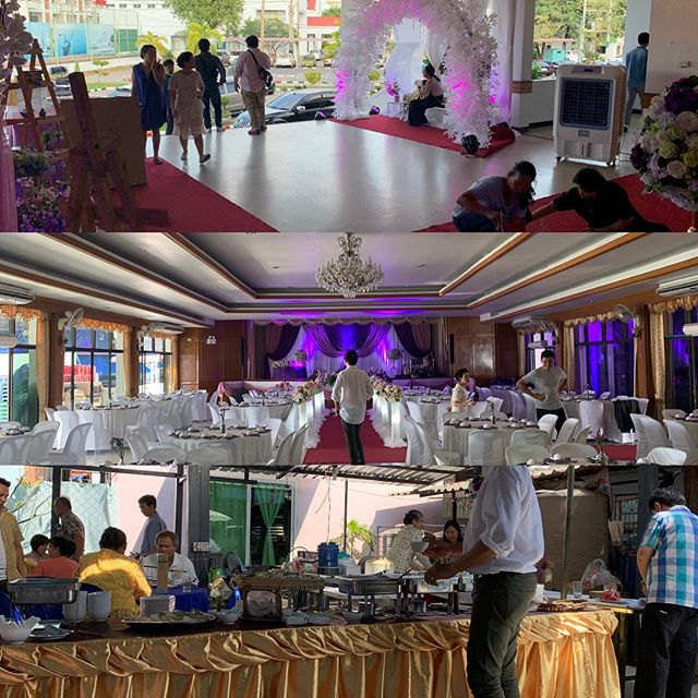 Putting the finishing touches on a #huge #wedding dinner at Royal Thai Navy Academy Final shots #comingsoon #eventplanner #event #plan #planner #coordinator #schedule #pullittogether #look #feelings #party #logistics #corporateevents #private #flawless #funtimes #help