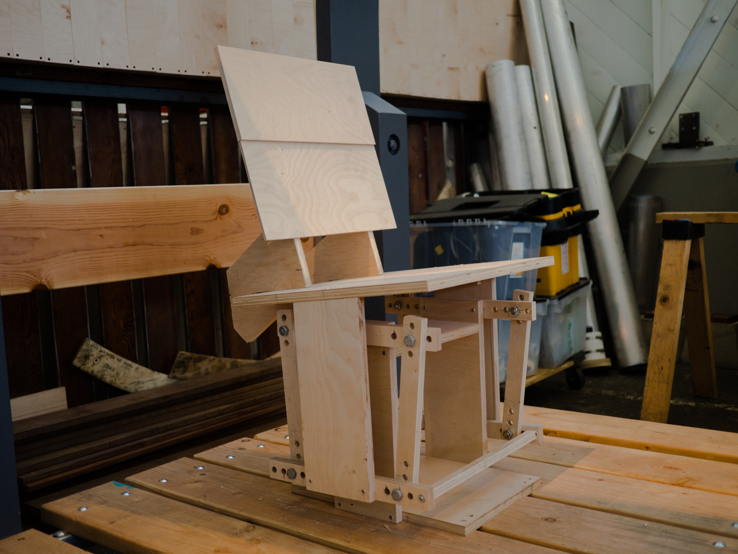 Adjustable prototype of the rocking chair