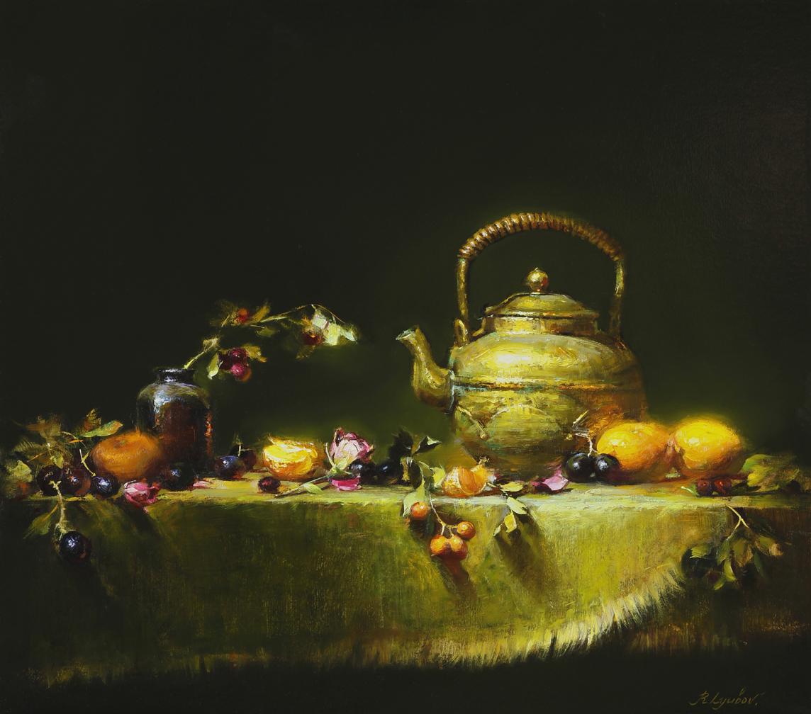 Golden Teapot 16x20 (SOLD)
