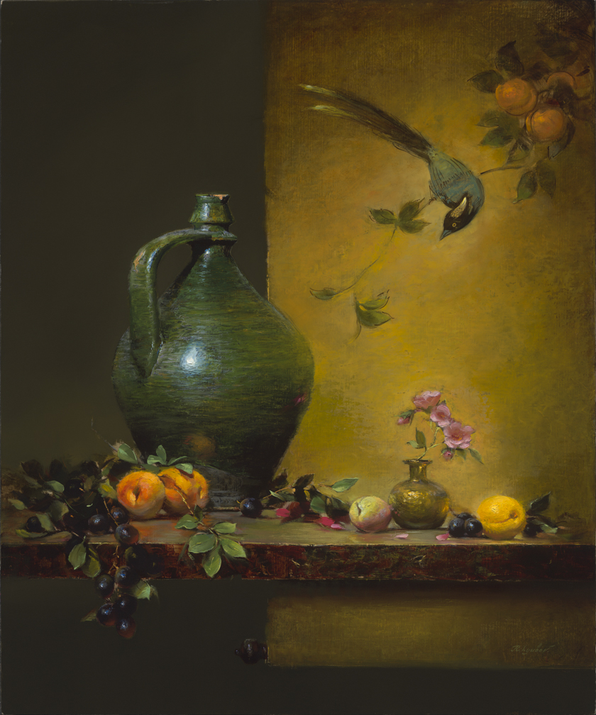 Green Olive Jar 24x20 (SOLD)