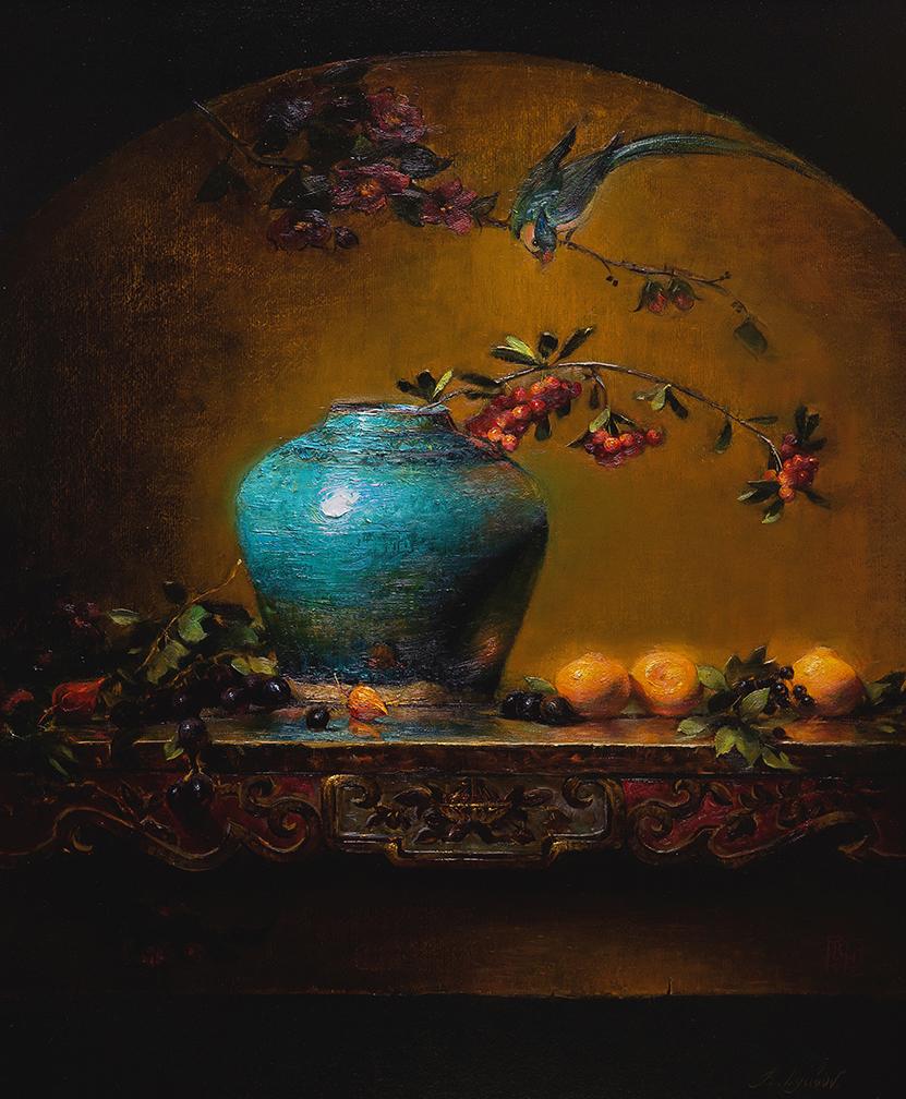 Green Vase 20x24 (Sold)
