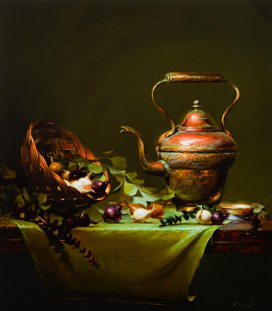Copper Tea Kettle 21x24