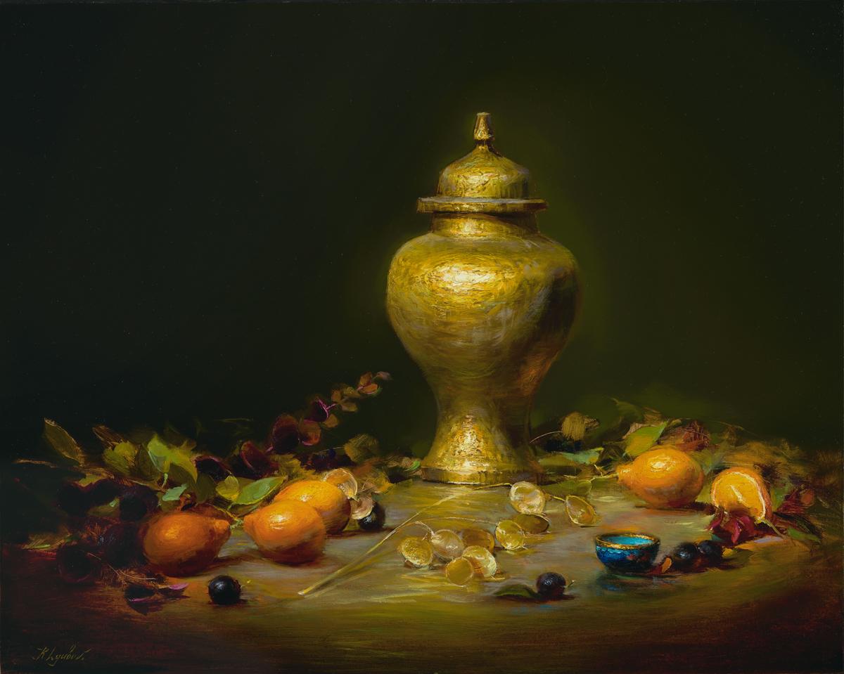 Golden Ginger Jar (16x20)