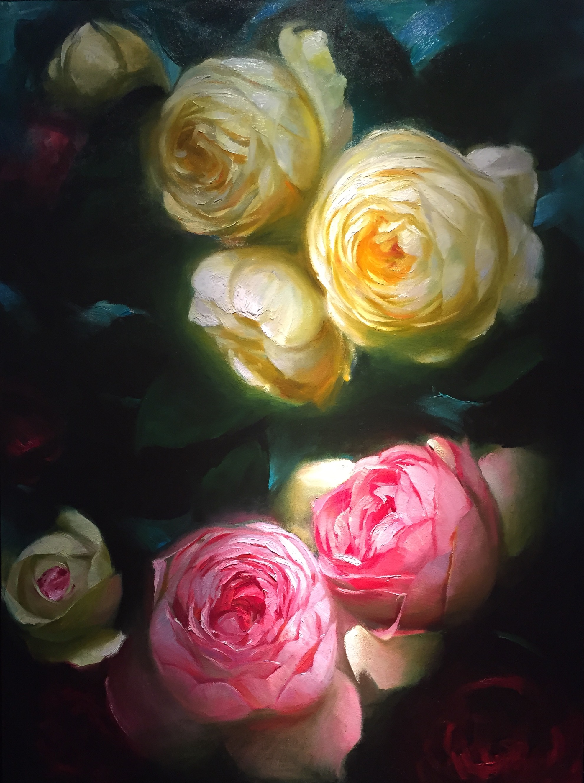 Roses in bloom (48x36)