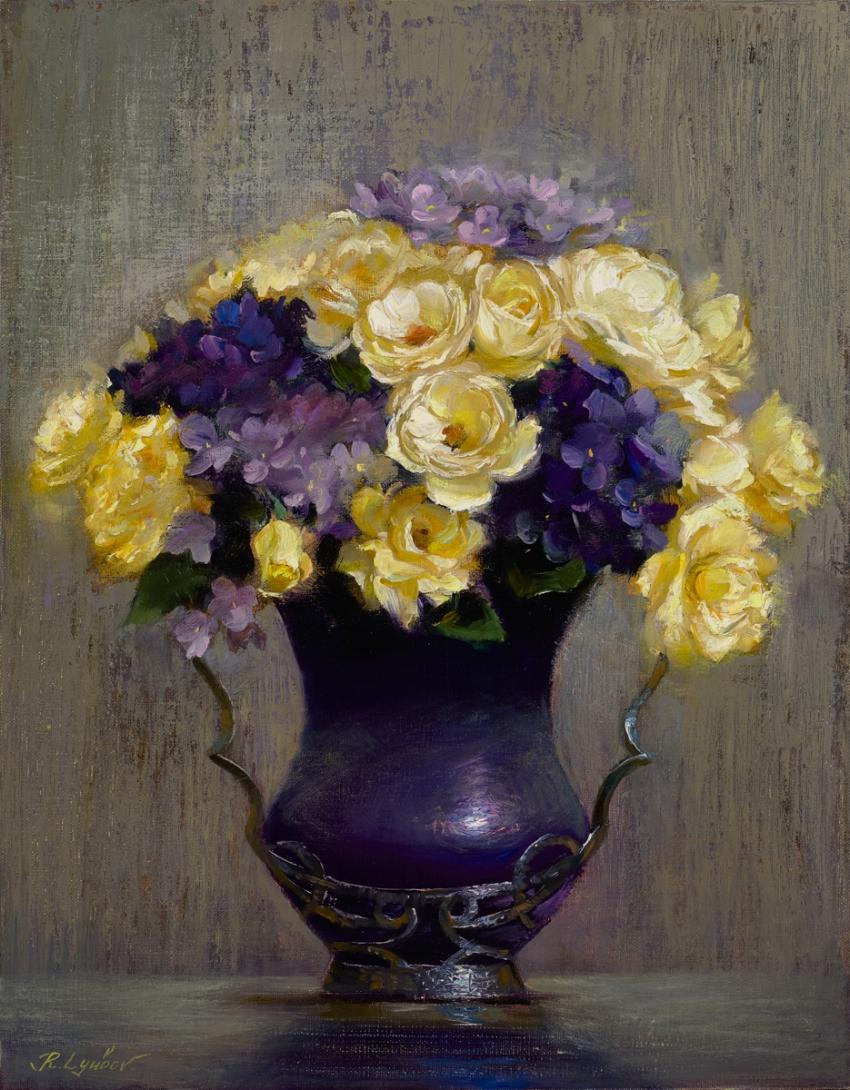 Roses with hydrangeas (14x11)