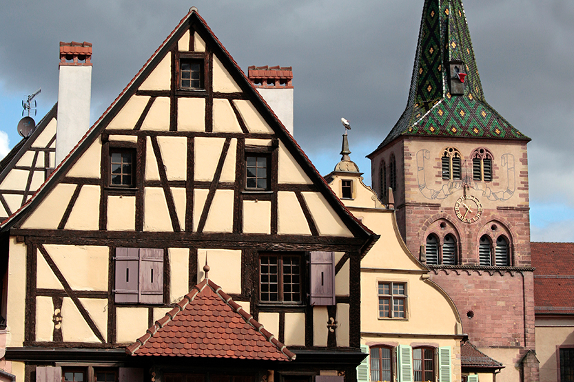 L'église au clocher bourguignon de Turckheim