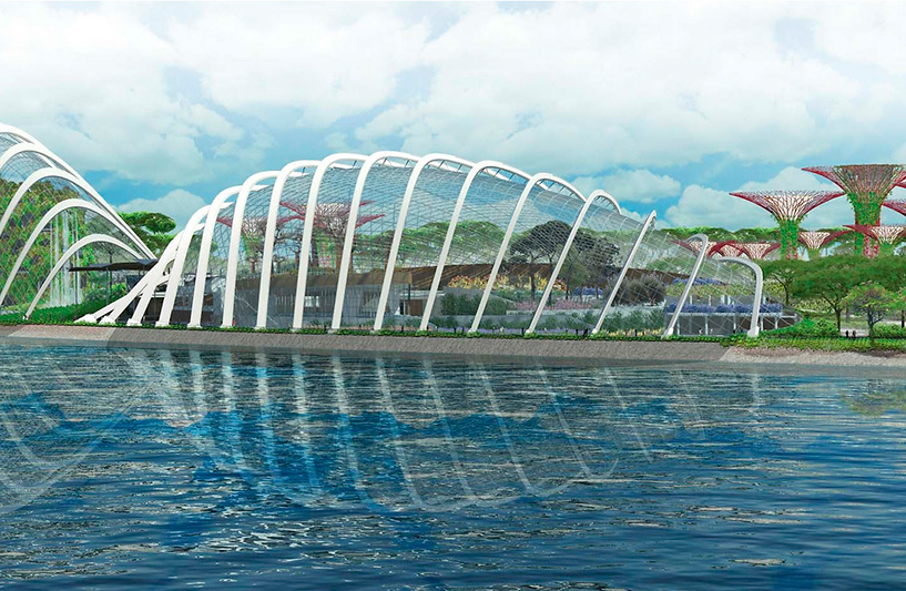 Cooled conservatories in Gardens By The Bay, Artist Impression