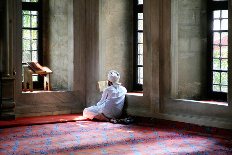 Prière à la mosquée d'Eyüp