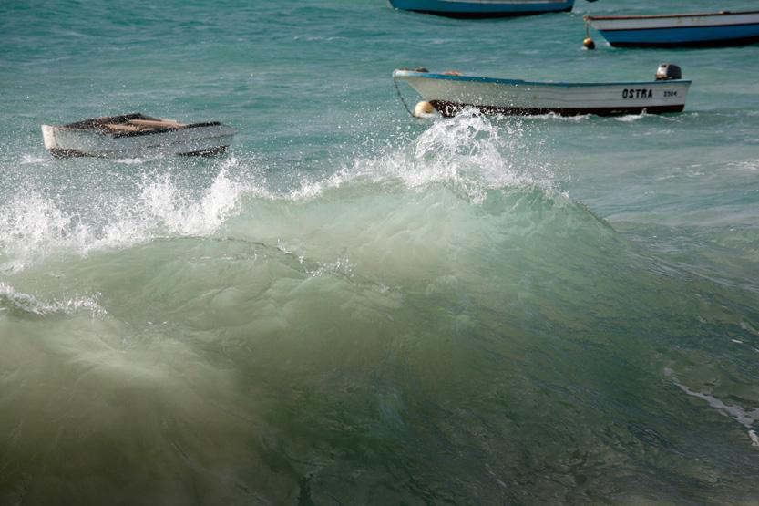 Mer d'émeraude au Cap Vert