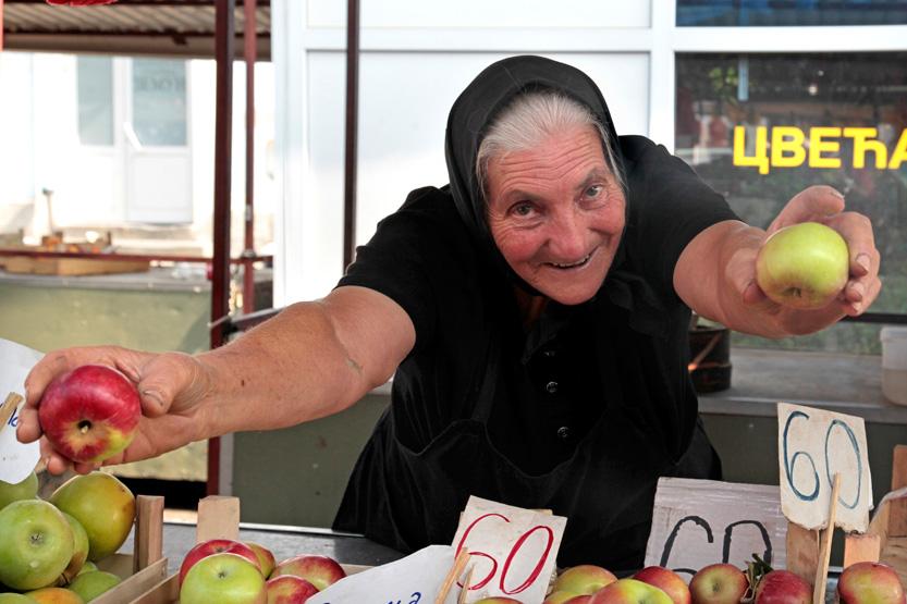 Sur le marché de Zemun