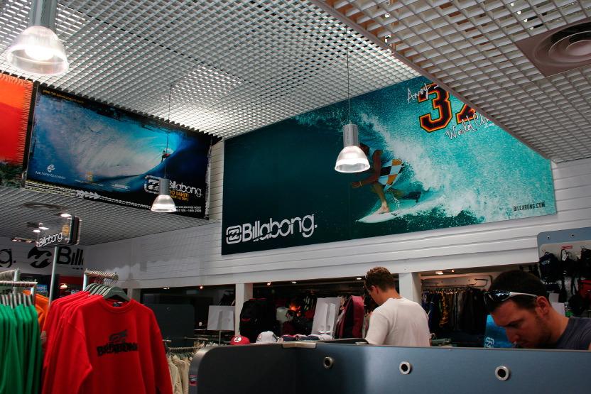 Hossegor, la boutique Billabong