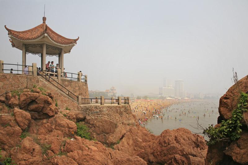 Qindao, le bain de foule