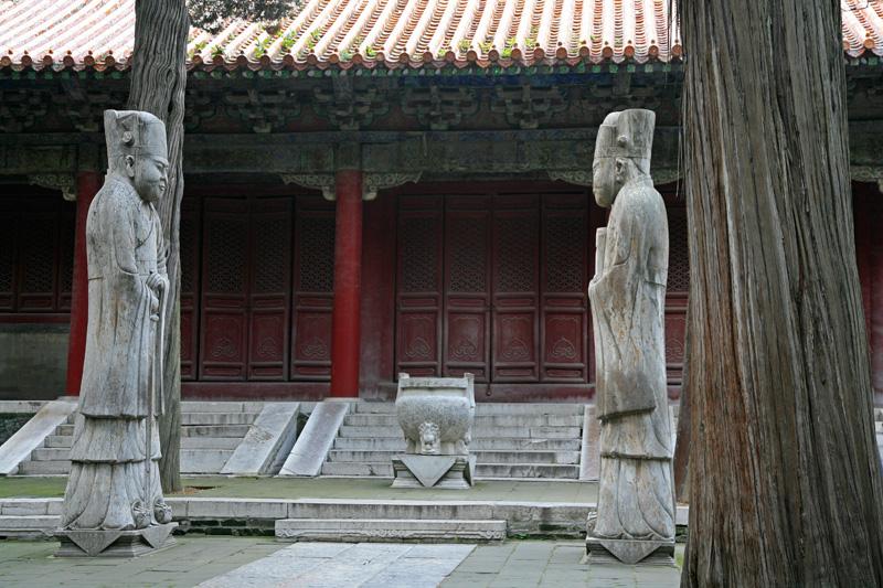 Arrivés près de la tombe de Confucius