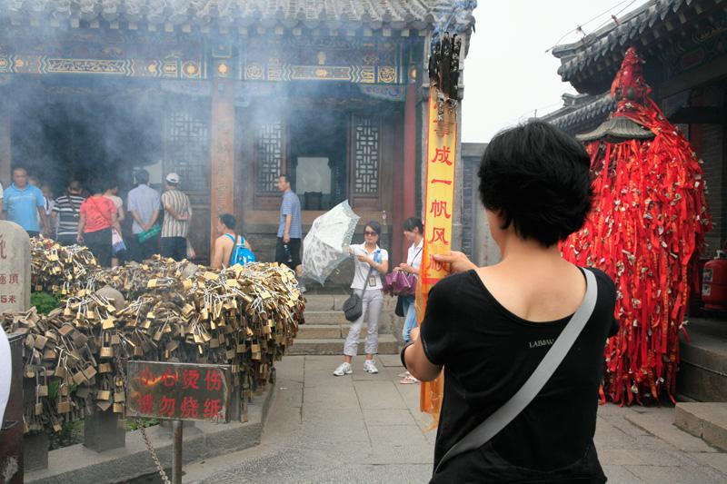 Au sommet du Mont Taishan