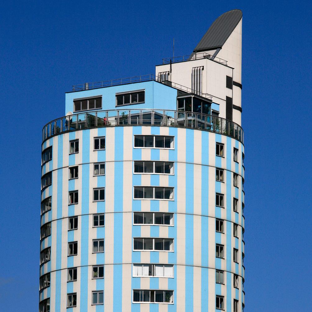 Modern tower in Donau City