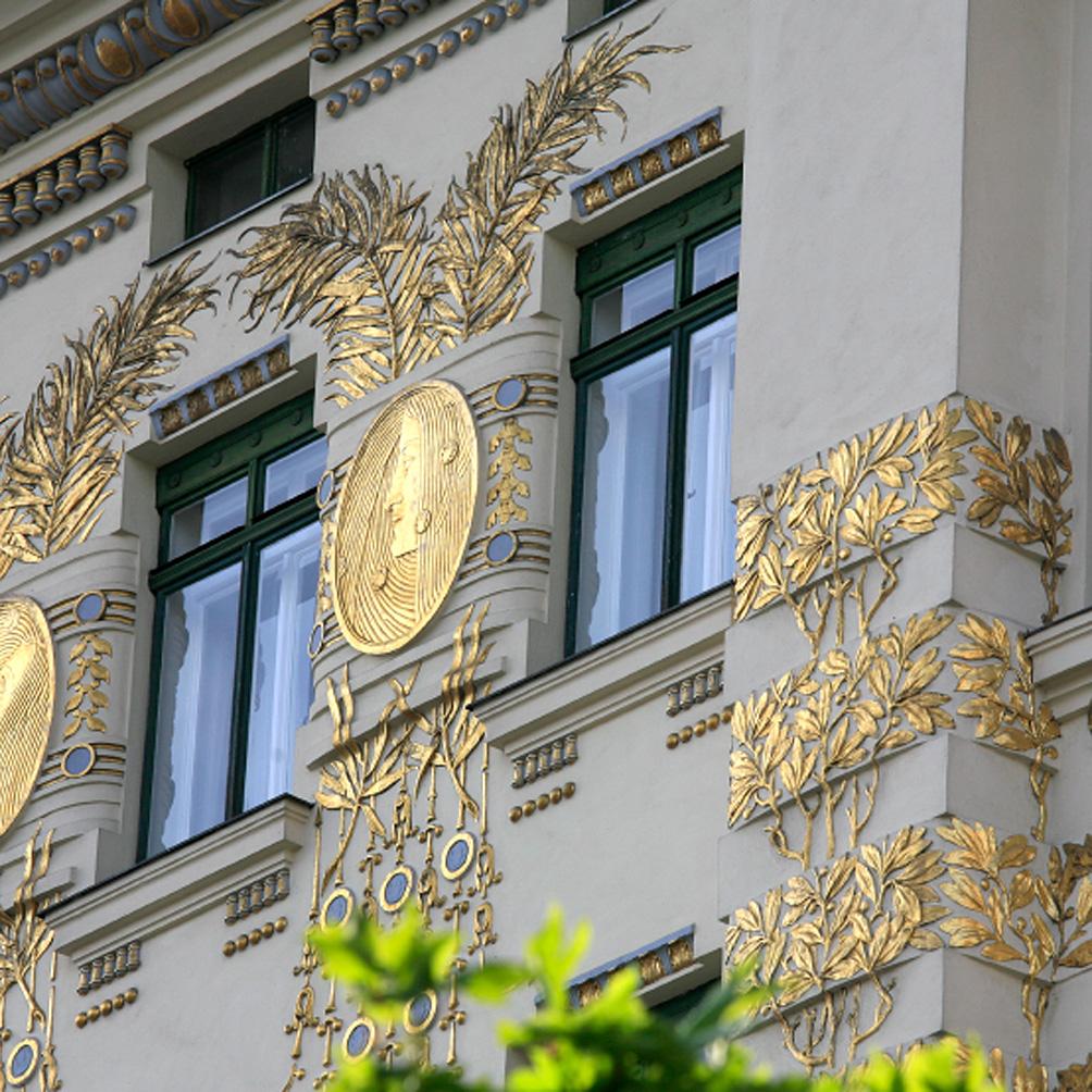 Les Maisons de la Wienzeile (par Kolo Moser, élève d'Otto Wagner)