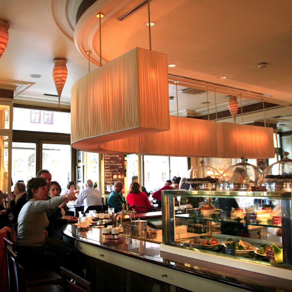 L'intérieur de l'ancienne partie du Café Sacher