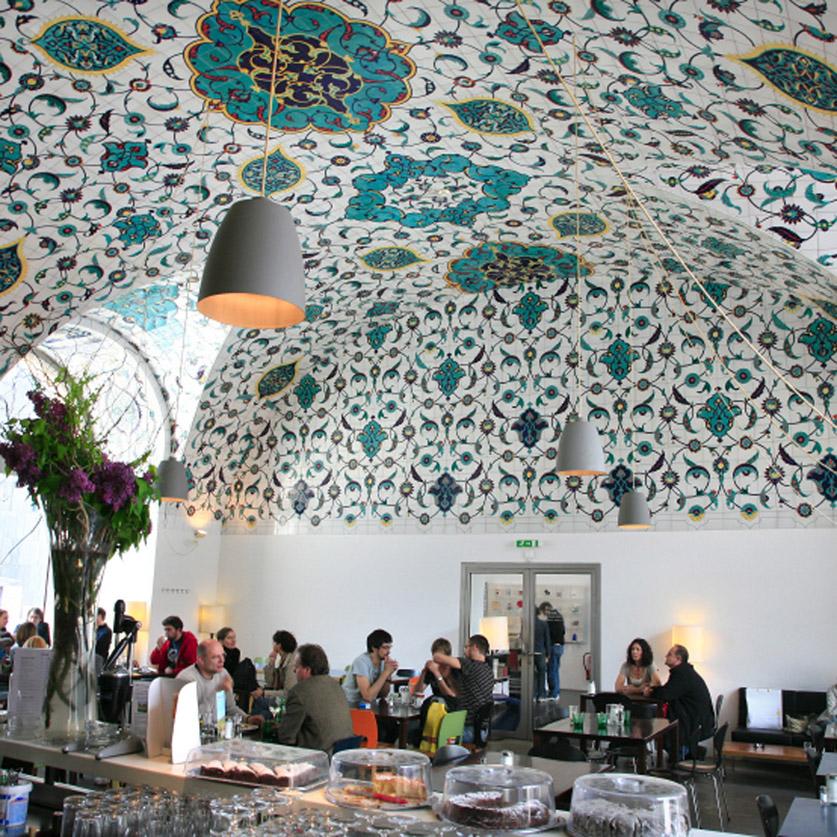 Milo, café-restaurant du centre d'architecture viennois (Az W)