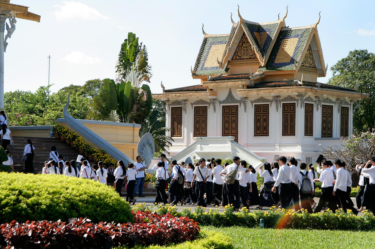 Visite scolaire au Palais royal