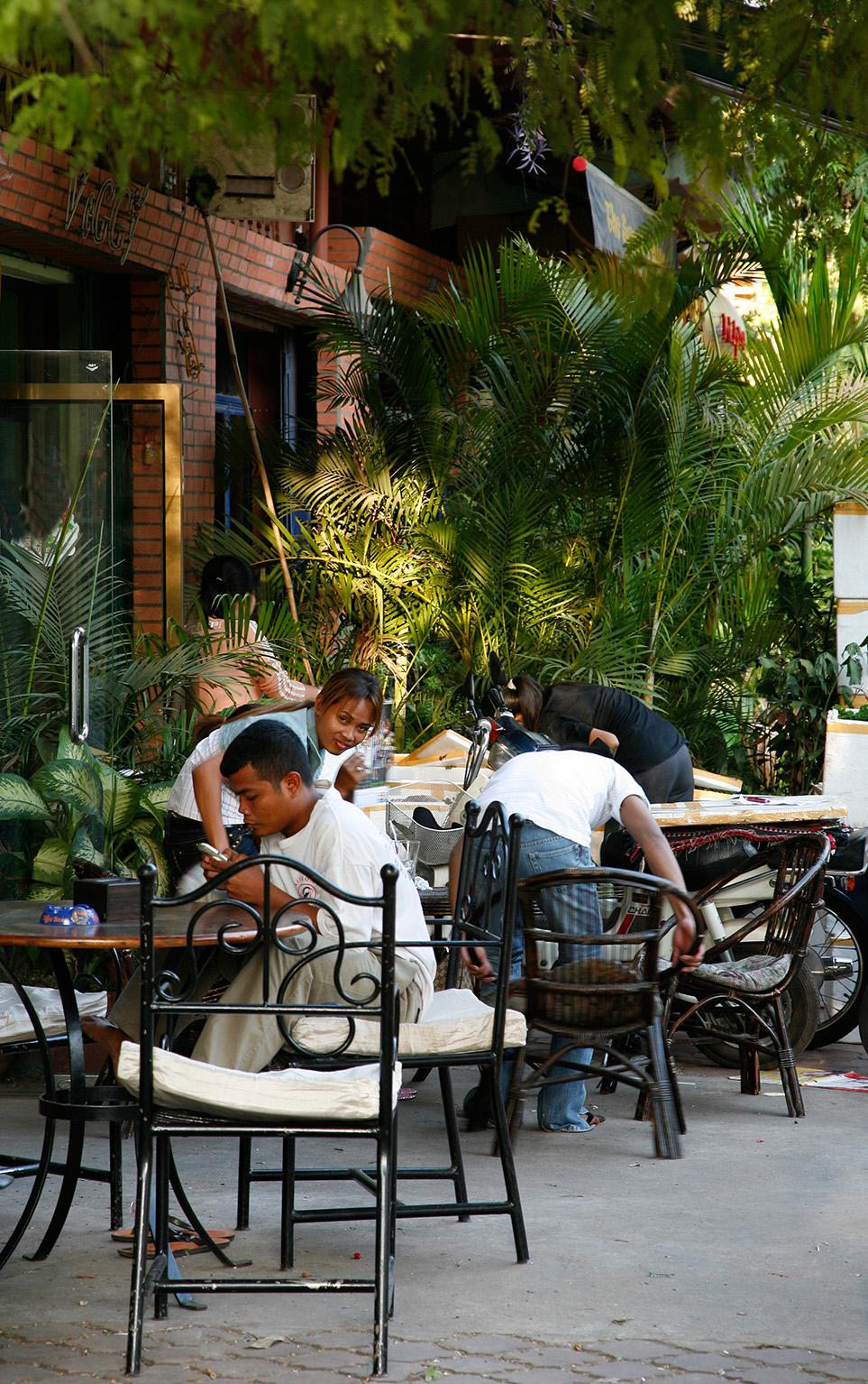 Des terrasses sympas, petits cafés...