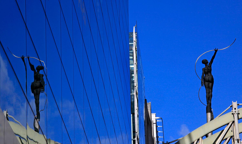 'Le fil d'Ariane' sur le pont Belliard, quartier Léopold